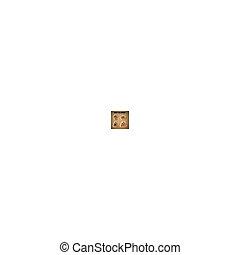 brun, halloween, -, eps, illustration, bakgrund., vektor, pumpor, klistermärken