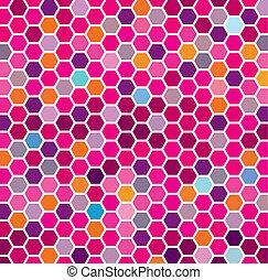 brun, hexagonal, mönster