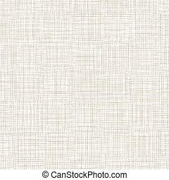 brun, illustration, vecteur, linen., fond, blanc, threads.