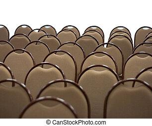 brun, isoalted, stol, färsk, vit, sal, tom