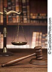 brun, justice, bois, fond, droit & loi, concept