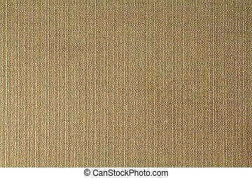 brun, kanfas, naturlig, tyg, linne, säckväv, cotton., struktur, bakgrund., textured., design