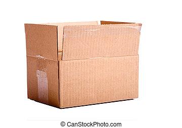 brun, kartong kasse