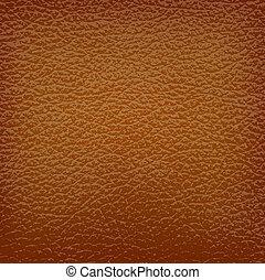 brun, läder, bakgrund., vektor, illustration.