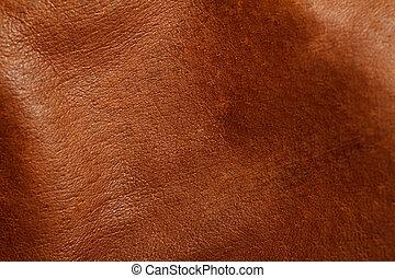 brun, läder
