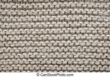 brun, laine, tricotter, texture