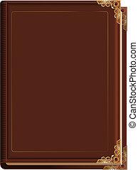 Brun Bible Vieux Couverture Livre Ferme Brun Bible