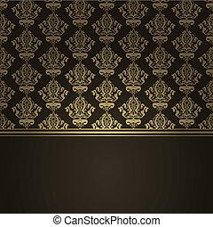 brun, luxe, fond