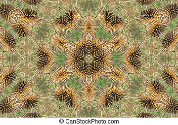 brun, mandala, bakgrund