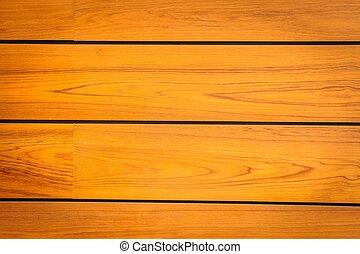 brun, moderne, modèle, wood., teak