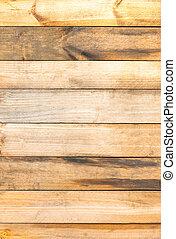 brun, mur, texture, bois, fond, planche