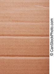 brun, onduler, carton
