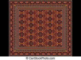 Sombre tapis oriental ornements d coratif vecteur for Moquette geometrique