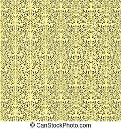 brun, ornement, gradient, seamless, branches, feuilles, beige, bourgogne, isolé, modèle fond, élégant, couleur, vert