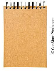 brun, ou, relieur, cahier, anneau, livre