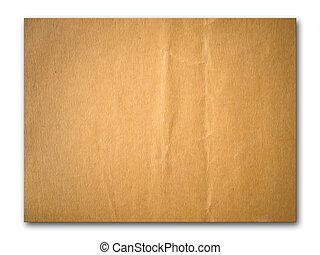 brun, papier chiffonné