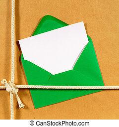 brun, paquet, papier