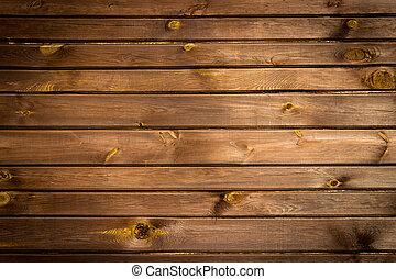 brun, peint, -, texture, mur, bois, fond, ou