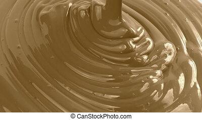 brun, peinture, verser