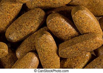 brun, pilules, diffusion, dehors