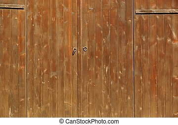 brun, porte, planche, rustique, bois, fond, portail,  horizontal, ou