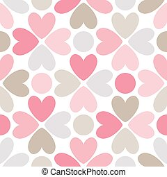 brun, rose, gris, pattern., seamless, vecteur, floral, blanc rouge