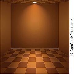 brun, salle