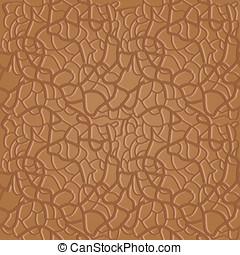 brun, seamless, läder, mönster