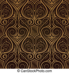brun, seamless, tapet