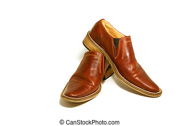 brun, skor