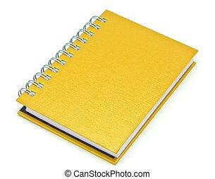 brun, stack, bok, bindemedel, anteckningsbok, ringa, eller