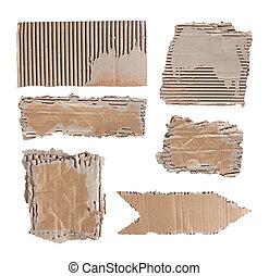 brun, sur, papier, fond, blanc, carton