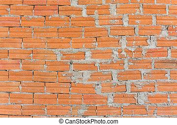 brun, tegelsten, bakgrund, wall.