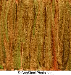 brun, toile, résumé, texture, aquarelle, rouge vert