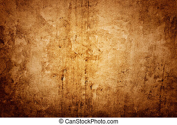 brun, vägg, struktur