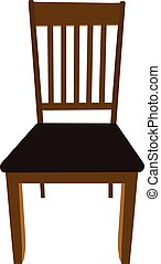 brun, vecteur, dinning, salle, illustration, chaise