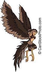 brun, voler, harpy