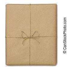 brunatny papier pakunek