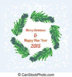 brunches, baum, banner, weihnachten