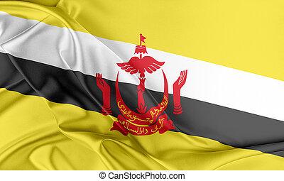 brunei, flag.