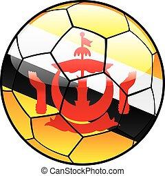 Brunei flag on soccer ball