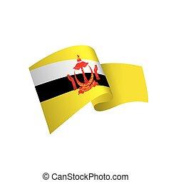 flag, vector illustration on a white background