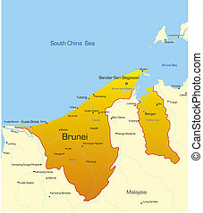 brunei, land