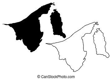 Brunei map vector