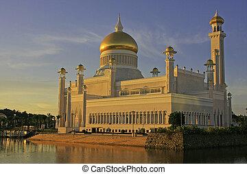 brunei, omar, sułtan, ali, bandar, begawan, meczet, ...