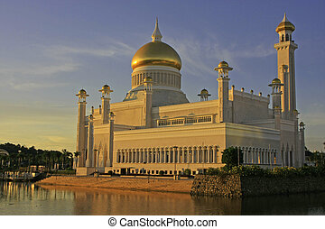 brunei, omar, sultán, ali, bandar, begawan, mezquita, ...