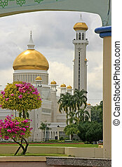brunei, omar, sultano, ali, bandar, begawan, moschea,...