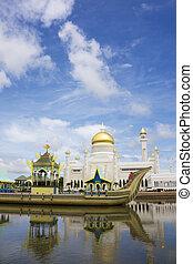 brunei, sultano, ali, saifuddien, moschea omar