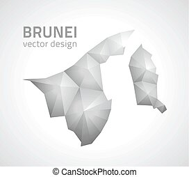 brunei, triangolo, mappa, grigio, prospettiva, mosaico