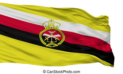Brunei War Flag Isolated Seamless Loop - War Brunei Flag,...